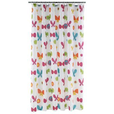 Cortina de baño mariposas 178 x 180 cm