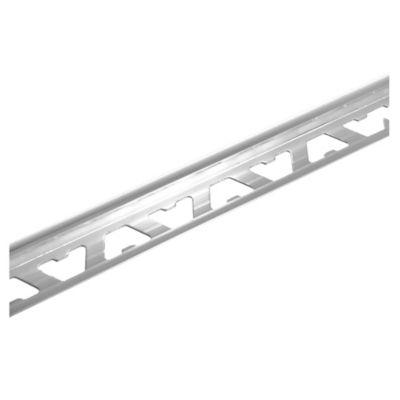 Guardacanto de aluminio Bullnose 10 mm x 2,50 m cromo brillante
