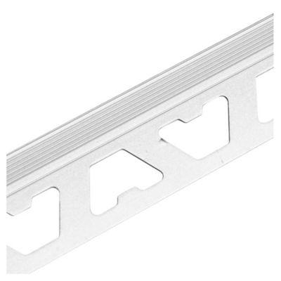 Guardacanto de aluminio Bullnose 10 mm x 2,50 m cromo mate