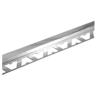 Guardacanto de aluminio Cuadra 10 x 10 mm x 2,5 m cromo brillante