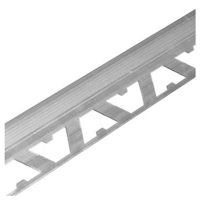 Guardacanto de aluminio Bullnose 12 mm x 2,50 m cromo brillante
