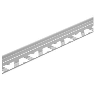 Guardacanto de aluminio Bullnose 12 mm x 2,50 m cromo mate