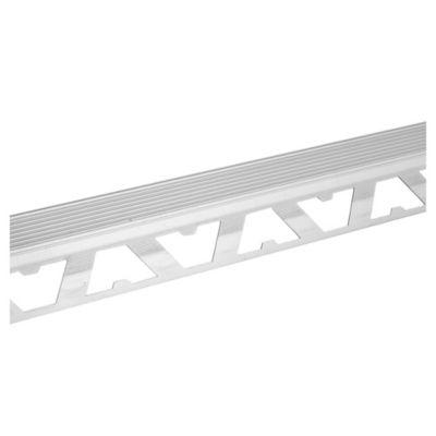 Guardacanto de aluminio Quadra 12 x 10 mm x 2,50 m cromo brillante