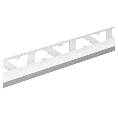 Guardacanto de aluminio Quadra 12 x 10 mm x 2,5 m cromo mate