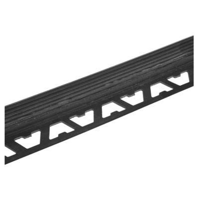 Protector PVC escalón 10 x 18 mm x 2,5 m negro