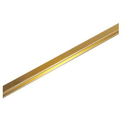 Listel de aluminio Quadra 9 x 9 mm x 2,45 m oro brillante