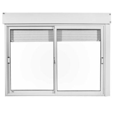 Ventana de aluminio con cajón blanca 150 x 100 cm