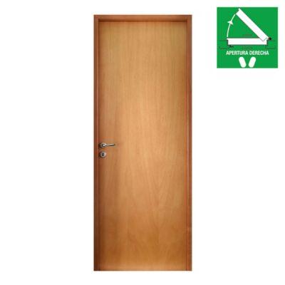 Puerta de interior Placa 70 x 200 x 10 cm marco de madera Derecha
