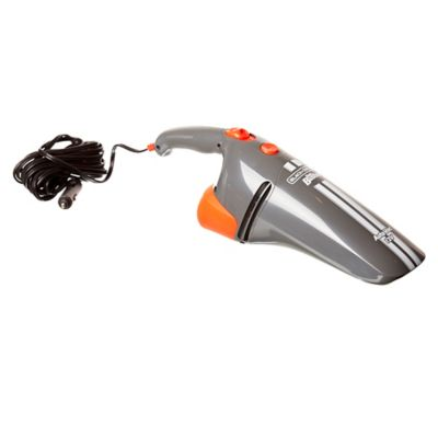 Aspiradora de mano para auto gris y naranja 12 v