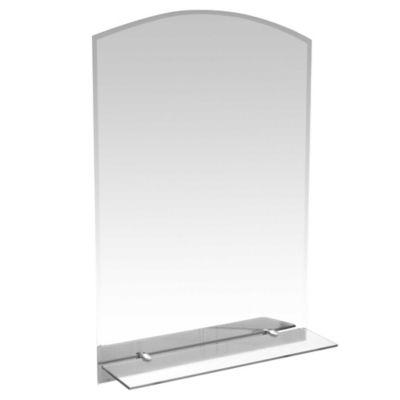 Espejo para baño con repisa y 2 luces 70 x 50 cm