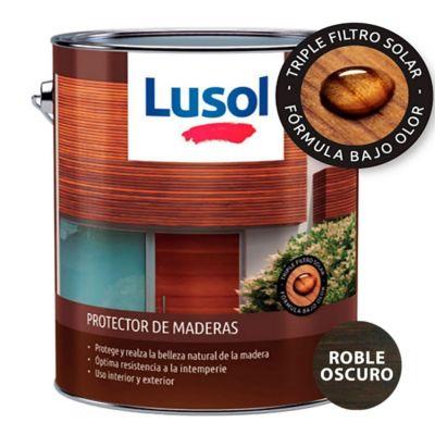 Protector de madera exterior e interior roble oscuro 4 L