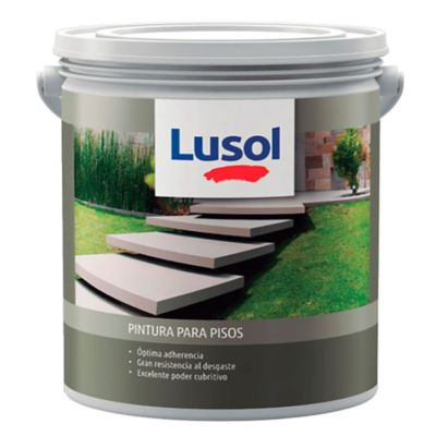 Pintura acrílica para pisos exterior e interior rojo teja 1 L