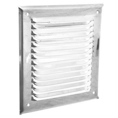 Rejilla de ventilación de acero inoxidable 15 x 15 cm
