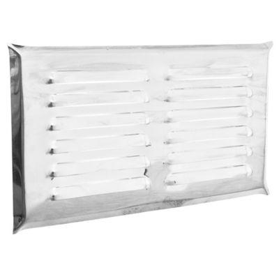 Rejilla de ventilación de acero inoxidable 15 x 30 cm