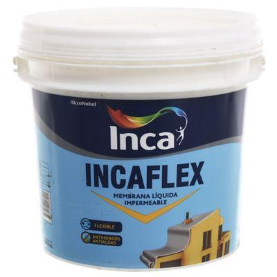 Membrana líquida impermeabilizante Incaflex blanco 4 kg
