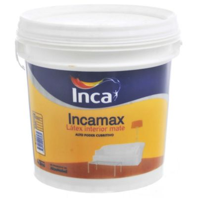 Pintura látex Incamax interior mate blanco 20 L