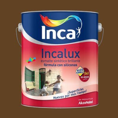 Esmalte sintético Incalux Marrón 4 l