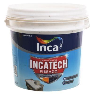 Impermeabilizante Elastomérico Incatech para techo fibrado blanco 4 kg
