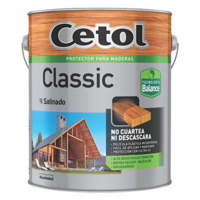 Protector de madera classic satinado cristal 4 L