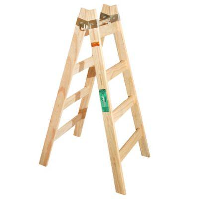 Escalera tijera de pino con 6 escalones 1.20 m