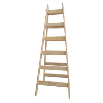 Escalera tijera de pino 6 escalones 1.38 m