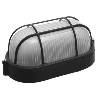 Tortuga Ovalada Aluminio Reja 1 Luz 40 W Negra