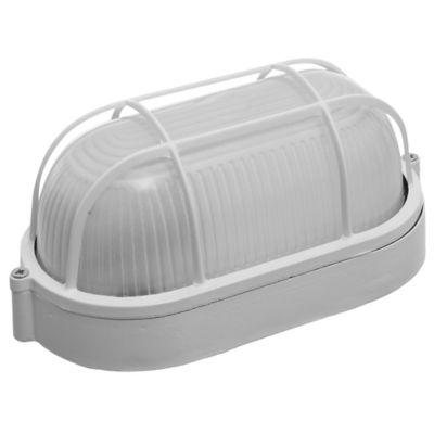 Tortuga Ovalada Aluminio Reja 1 Luz 40 W Blanca