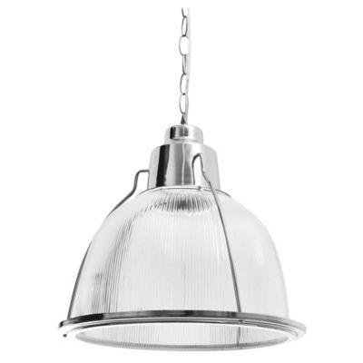 Lámpara colgante policarbonato rayas con base D:30 1 luz E27
