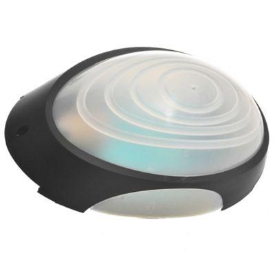 Tortuga plástica ovalada negra con Aro 1 luz E27