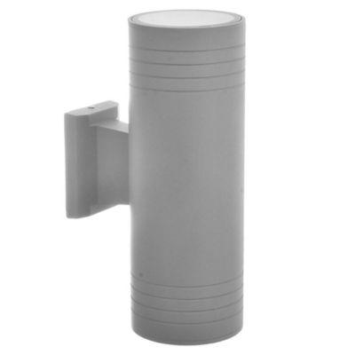 Aplique exterior bidireccional de aluminio gris 2 luces E27