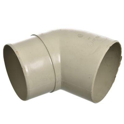 Codo 60° para canaleta Aquapluv beige 9 cm