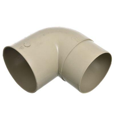 Codo 90° para canaleta Aquapluv beige 9 cm