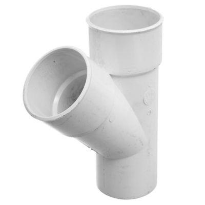 Accesorio 3,2 mm Ramal simple 45° macho/hembra 63 mm diámetro