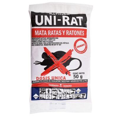 Raticida mata ratas y ratones 50 g