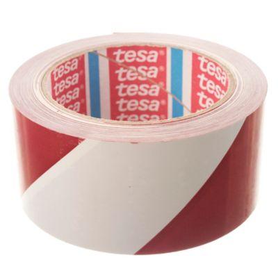 Cinta demarcación 50 x 66 m Rojo y blanco