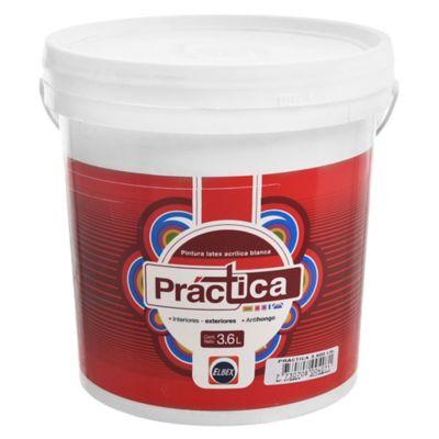 Pintura látex Práctica antihongos exterior e interior blanco 3,6 L