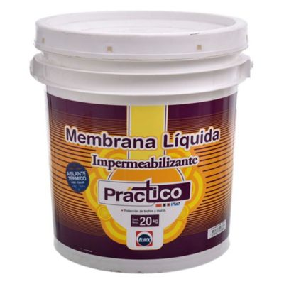 Membrana líquida impermeabilizante Práctico blanco 20 kg