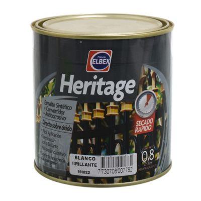 Esmalte Convertidor Heritage terminado brillante blanco 800 ml