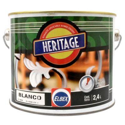 Esmalte Convertidor Heritage terminado brillante blanco 2,40 L