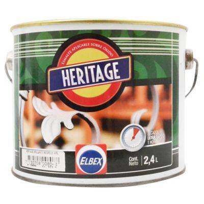 Esmalte Convertidor Heritage terminado brillante negro 2,40 L