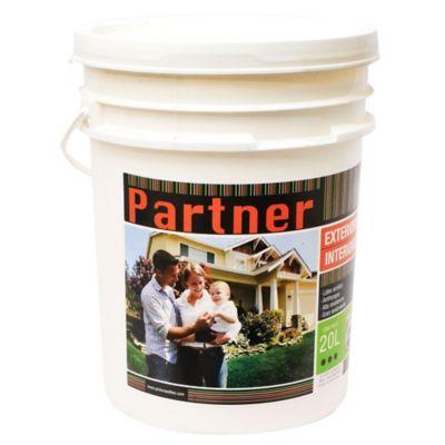 Pintura látex Partner antihongos exterior e interior blanco 20 L