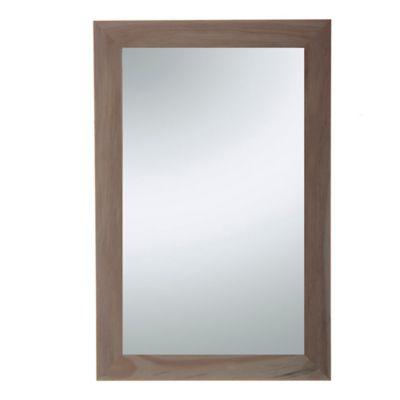Espejo para baño de madera Finger 40 x 60 cm