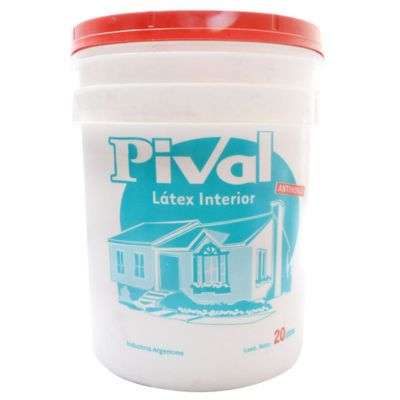 Pintura látex Pival antihongos interior mate blanco 20 L