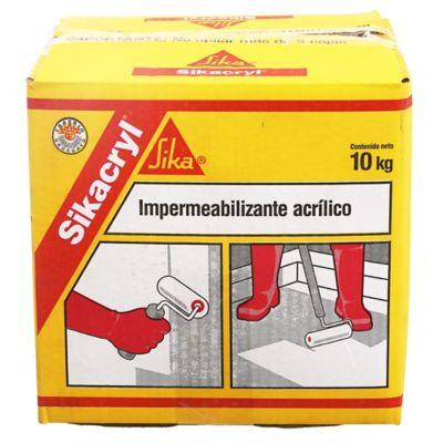Impermeabilizante acrílico Sikacryl blanco 10 kg