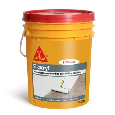 Impermeabilizante Sikacryl Blanco 20 Kg Fibrado