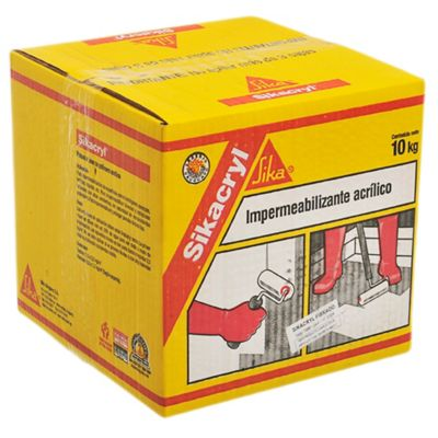 Impermeabilizante acrílico Sikacryl fibrado blanco 10 kg