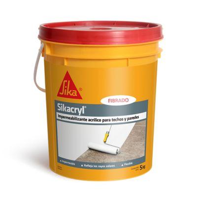 Impermeabilizante acrílico Sikacryl fibrado blanco 5 kg