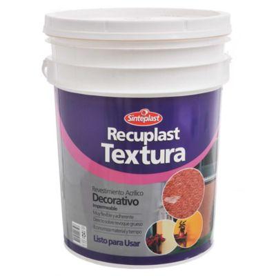 Revestimiento Recuplast Textura mediano blanco 25 kg