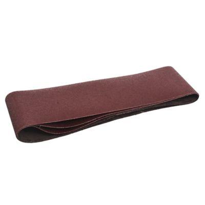Pack de 3 bandas de lija para madera y metal 75 x 533 mm grano medio