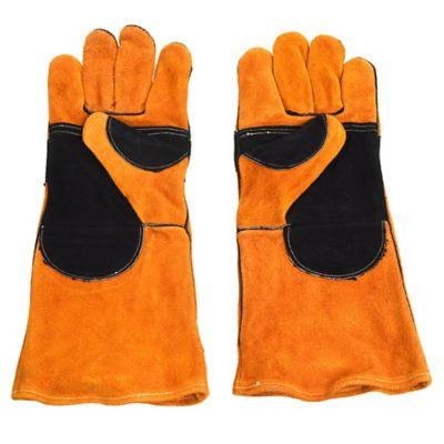 Guante de descarne naranja y negro para soldador